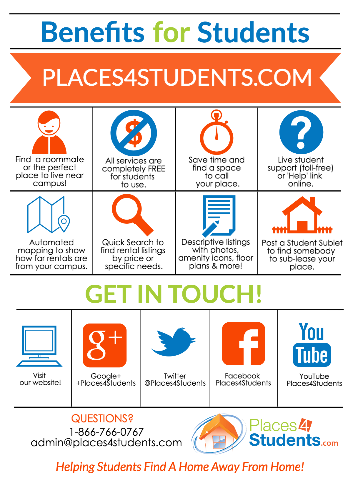 Places4students.com - Helping Students Find A Home Away From Home