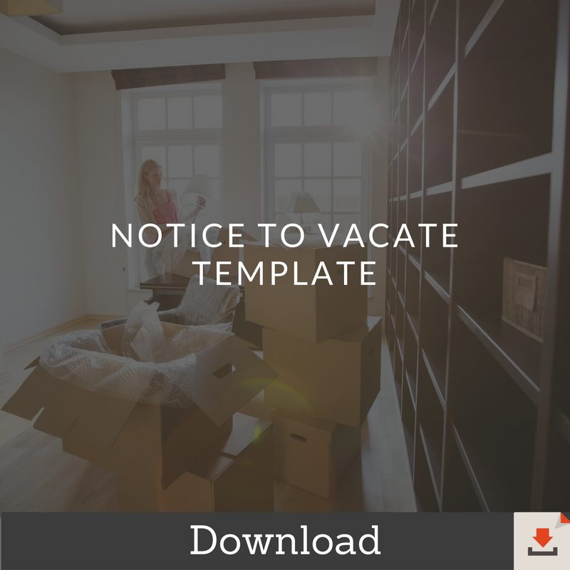Notice-To-Vacate